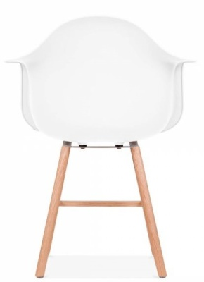 Eames Inspired DAW Chair With Oxford Legs And A White Seat Rear View