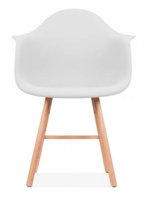 Eames Inspired DAW Chair With An Olff White Seat And Oxford Legs Front Shot