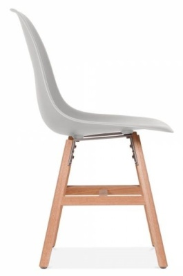 Eames Inspired DSW Chair With A Light Grey Seat And Oxford Legs