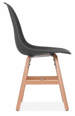 Eanes Inspired DSW Chair With A Dark Grey Seat And Oxford Legs Side View