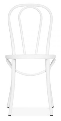 Thonet Retro Designer Benwood Chair In White Rear Shot
