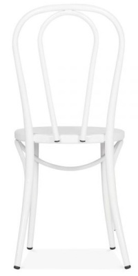 Thonet Rertro Chair In White Rear View