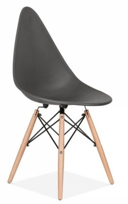 Scalena Designer Chair With A Dark Grey Seat Front Angle