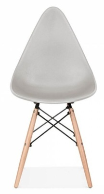 Scalena Designer Chair With A Light Grey Seat Front View