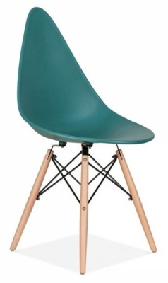 Scalena Designer Chair With A Teal Seat Front Angle