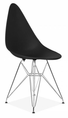 Cadiz Designer Chairs With A Black Poly Seat Front Angle View