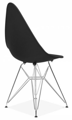 Cadiz Designer Chair With A Black Seat Rear Angle