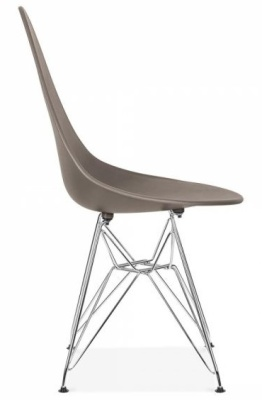Cadiz Designer Chair With A Warm Grey Seat Side View