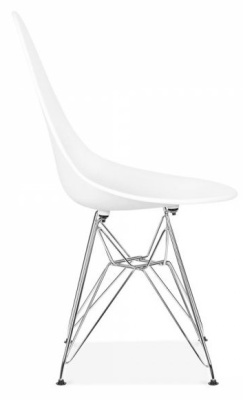 Cadiz Designer Chair With A White Seat Side View