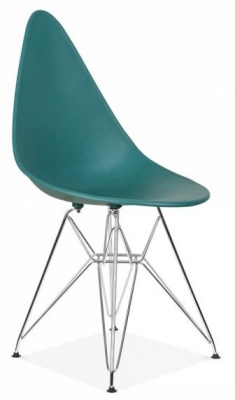 Cadiz Designer Chair With A Teal Seat Front Angle