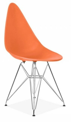 Cadiz Designer Chair With An Orange Seat Front Angle