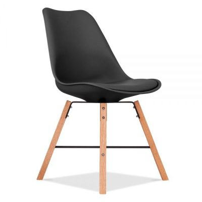 Cross Town Chair Wita Black Seat Front Angle