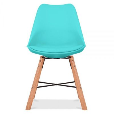 Crosstown Chair Wit A Turquoise Seat Front Shot