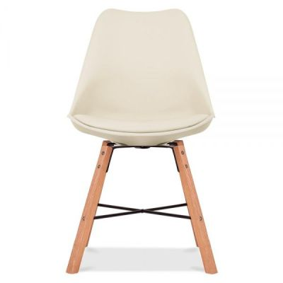 Crosstown Chair With A Cream Seat Front Shot