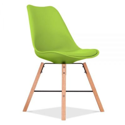 Crosstown Chair With A Lime Seat Front Angle View