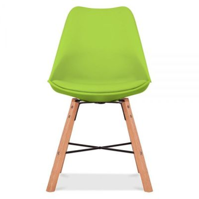 Crosstown Chair With A Lime Seat Front Shot