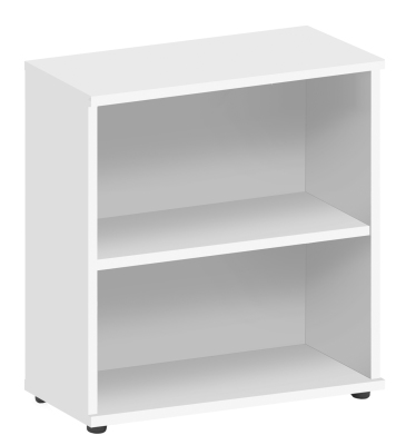 Abacus Low Bookcase In White