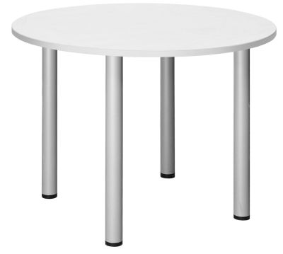 Abacus Round Meeting Table In White