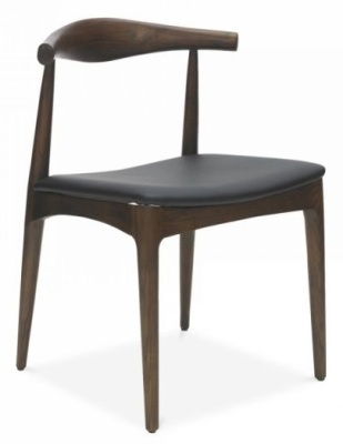 Elbow Designer Chair With A Black Faux Leather Seat