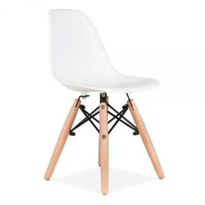 Eames Insired Junior Dsw Chair Whiet Front Angle