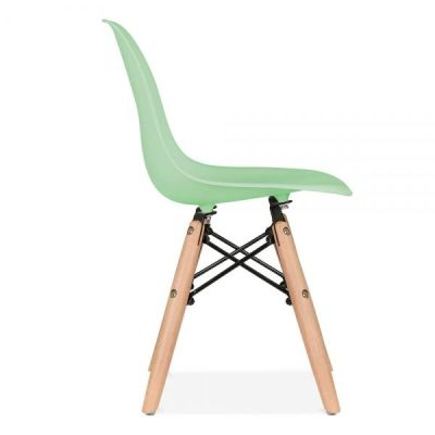 Eames Inpired Junior Dsw Chjair Peppermint Seat Side View