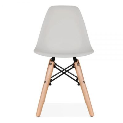Eames Inspired Junior Dsw Chair With A Grey Seat Front Shot