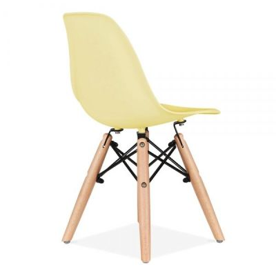 Eames Inspired Junior Yellow Dsw Chair Rear Angle