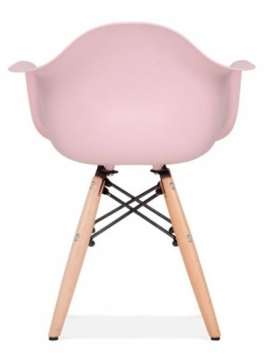 Eames Inspired Junior DAW Chair With A Pink Seat Rear View