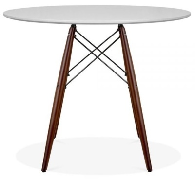 Eames Inspired DSW Table With A Grey Top And Walnut Legs 2