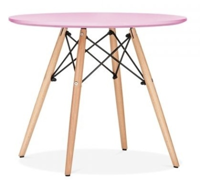 Eames Inspired Junior DSW Table With A Pink Top 1