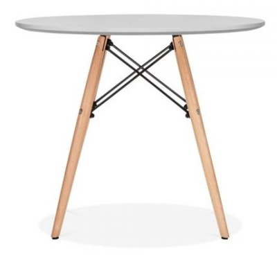 Eames Inspired Junior DSW Table With A Grey Top