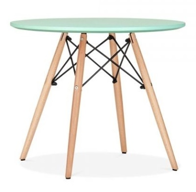 Eames Inspired DSW Table With A Lime Green Top