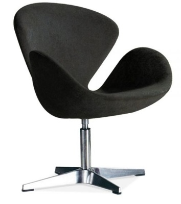 Swan Bstyle Chair Black Fabric