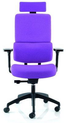 Infinity Ergonomic Split Back Chair With A Headrest And Height Adjustable Arms