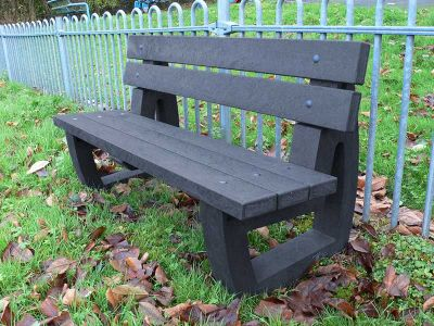 Westpoint Traditional Outdoor Bench In Black