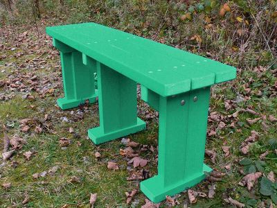 Westpoint Coloured Bench In Green Without Back