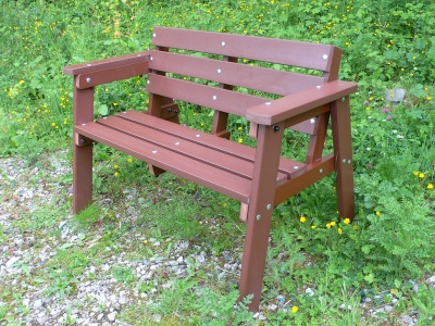 Westpoint Widsor Two Seater Bench Mahogany Colour