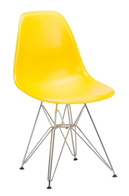 Eames V4 DSR Chair Yellow