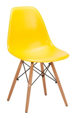 Eames Inspired DSW Chair Yellow V4