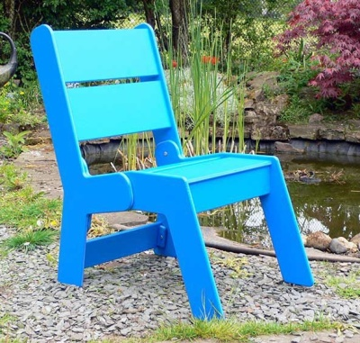 Westpoint Recycled Plastic Arm Chair In Blue