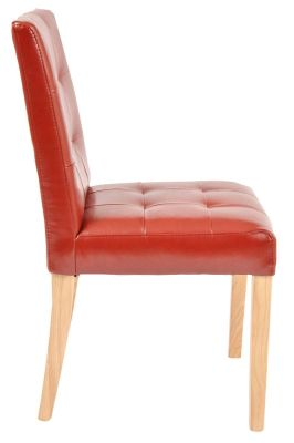 Kent Leather Dining Chair Side View