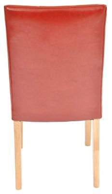 Kent Leather Dining Chair Rear View