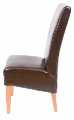 Courtney Faux Leather Dining Chair Side View