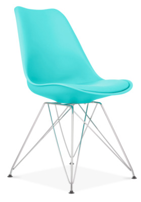 Vortex Chair In Turquoise Ffront Angle