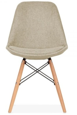 Eames Inspired Dsw Beige Upholstery Front View