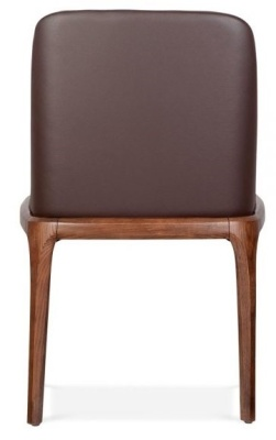 Luxo Leather Dining Chair Rear View