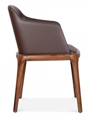 Luxo Brown Leather Dining Atrmchair 2