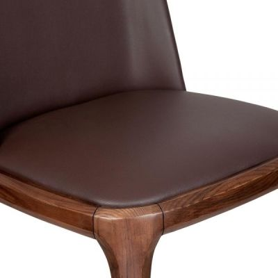 Luxo Leather Dining Chair Detail Shot