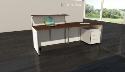 Milano V6 Reception Desk Rear View