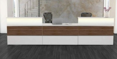 Atlanta Reception Desk In Walnut 7